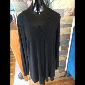 Eileen Fisher Charcoal Gray SZ XL Women Shirt Top